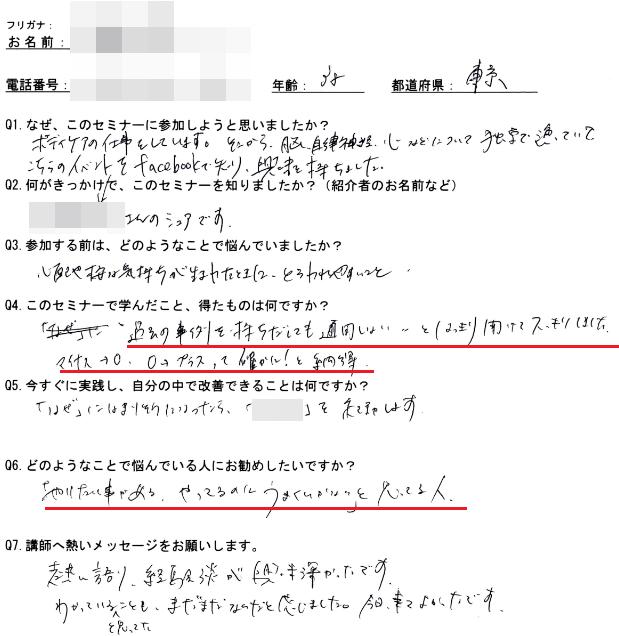 参加者アンケート